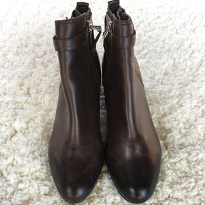 Sam Edelman brown leather booties.